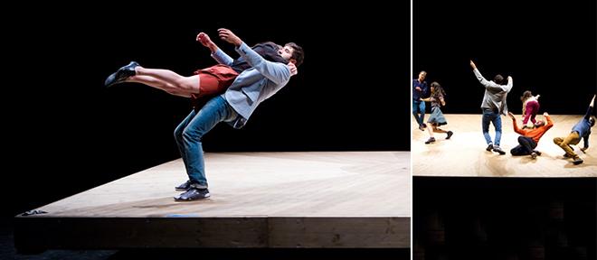 요안 부르주아의 < Celui qui tombe > 공연 ©Géraldine Aresteanu