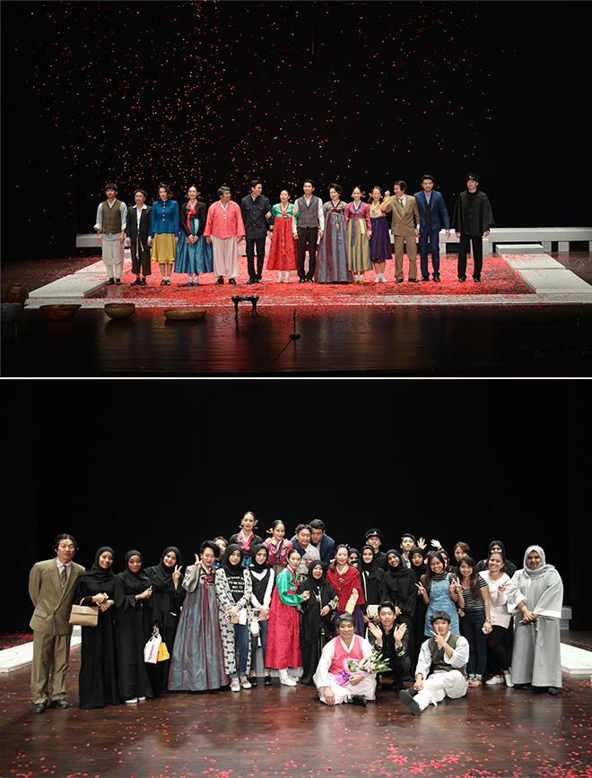 ▲ 아부다비 국립극장에서 연극 <홍도> © 극공작소 마방진